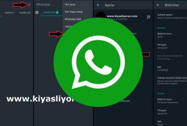 whatsapp bildirim sesi açma iphone